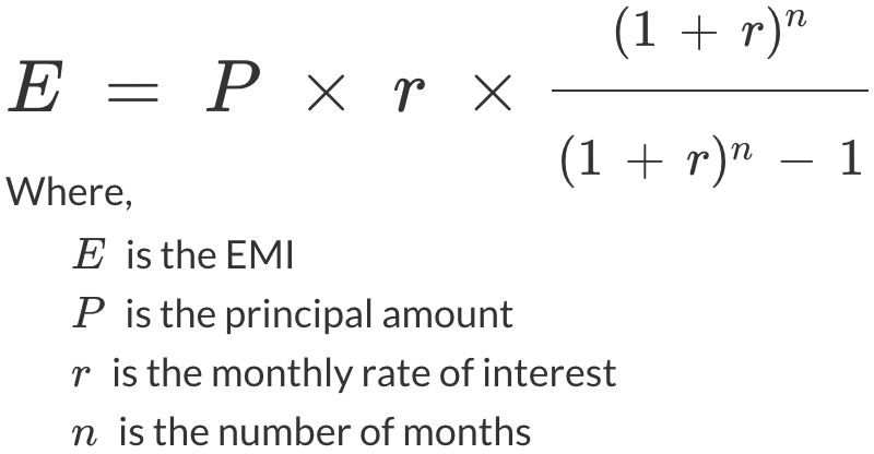 EMI Calculator - Credy